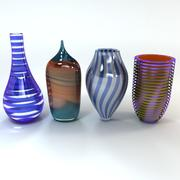 Art Glass Vases 3d model