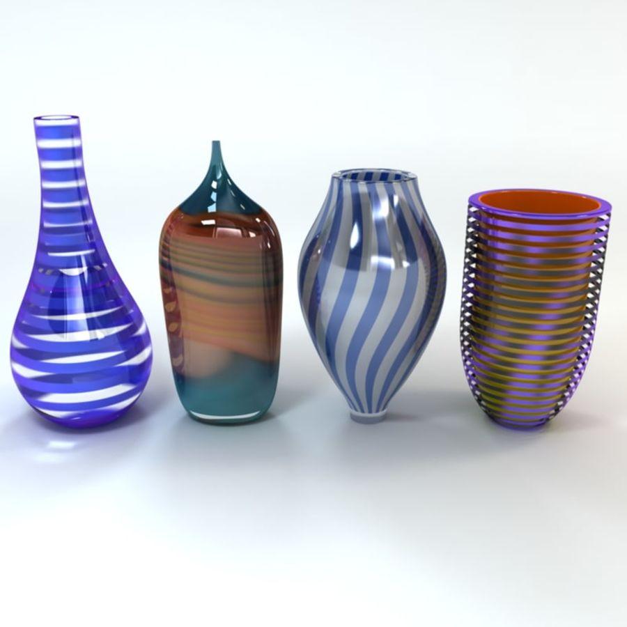 アートガラス花瓶 royalty-free 3d model - Preview no. 1