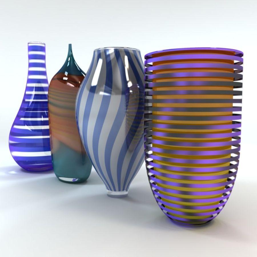 アートガラス花瓶 royalty-free 3d model - Preview no. 2