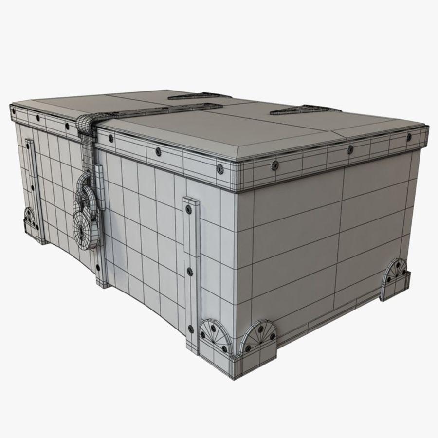 Antiker Kofferraum royalty-free 3d model - Preview no. 7