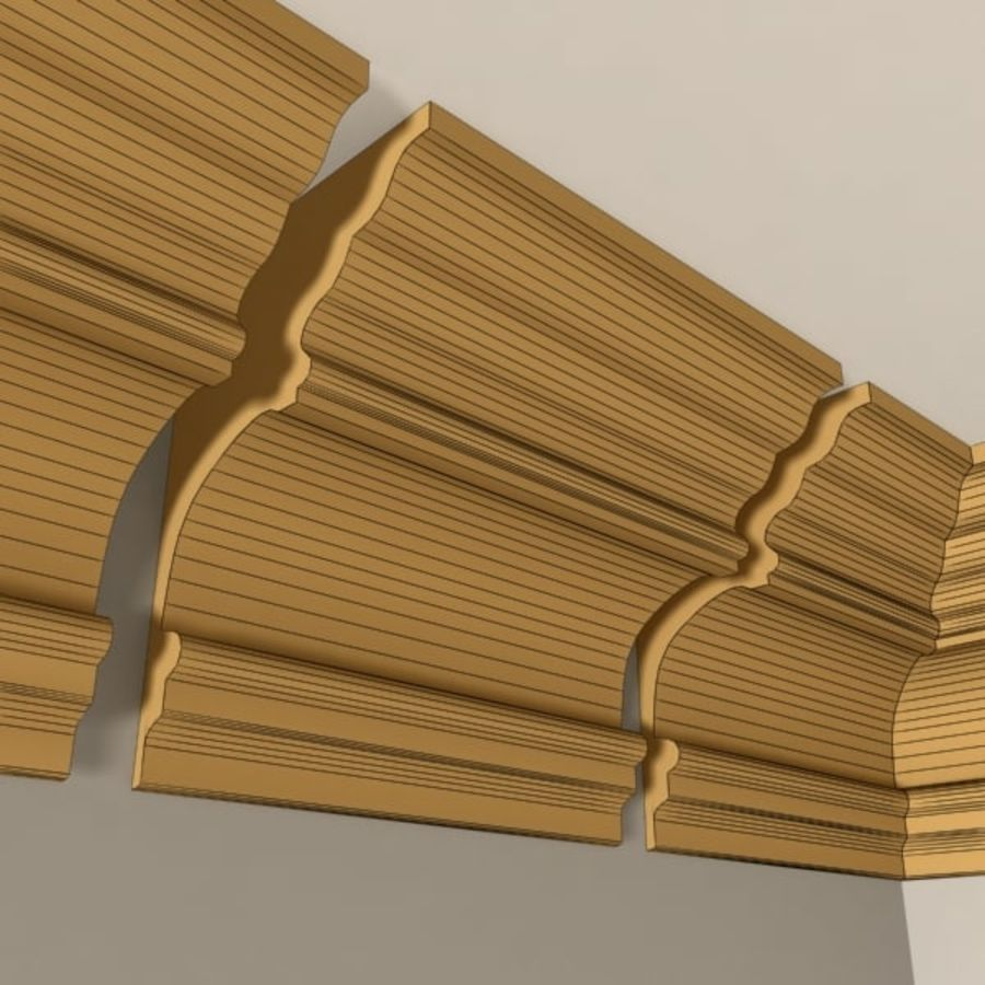 Cornice Molding 010 royalty-free 3d model - Preview no. 7