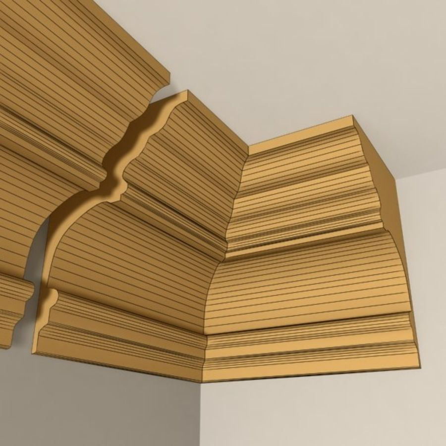 Cornice Molding 010 royalty-free 3d model - Preview no. 6