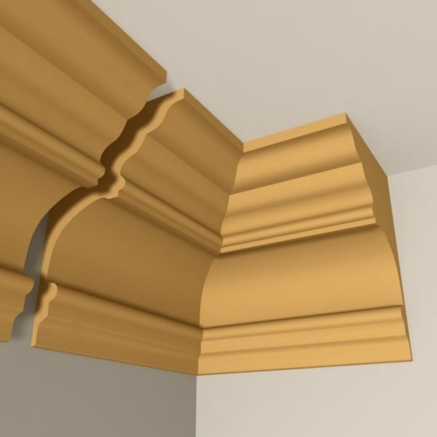 Cornice Molding 010 royalty-free 3d model - Preview no. 2
