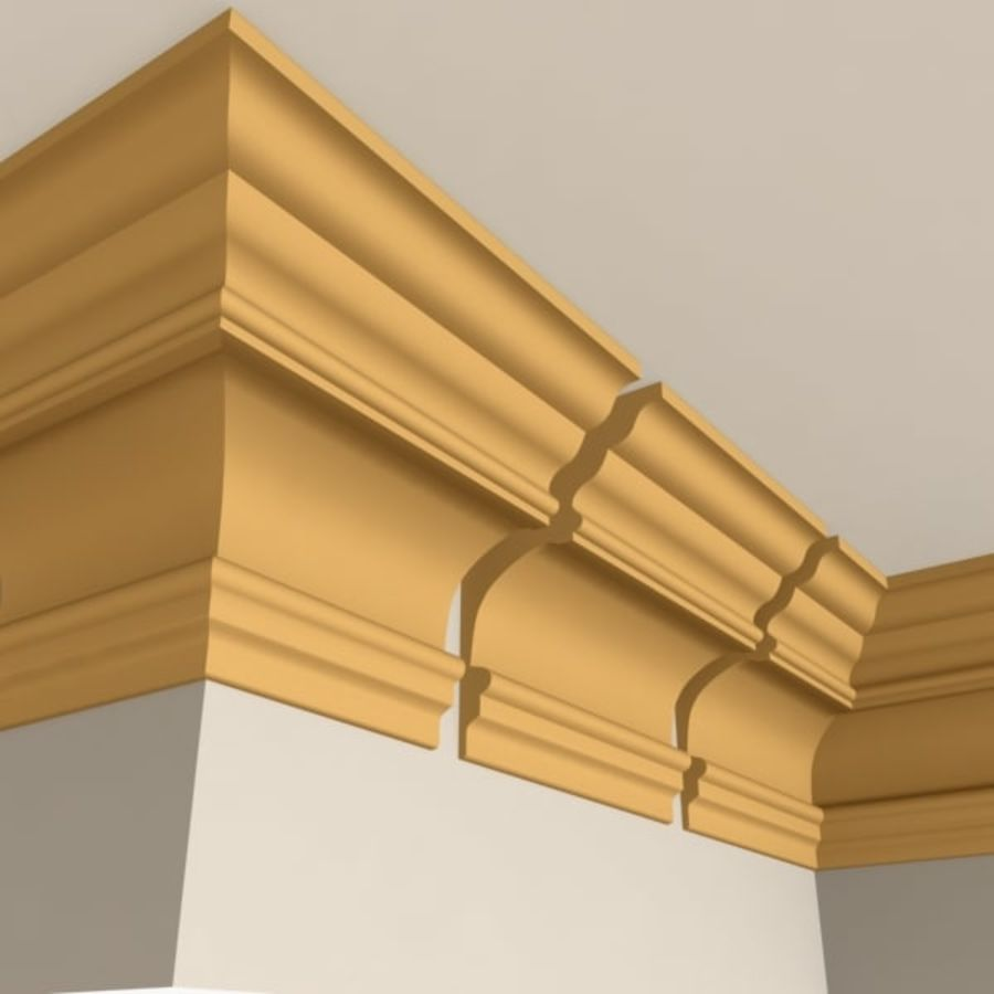 Cornice Molding 010 royalty-free 3d model - Preview no. 1