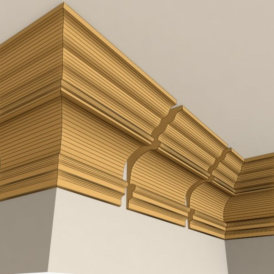 Cornice Molding 010 royalty-free 3d model - Preview no. 5