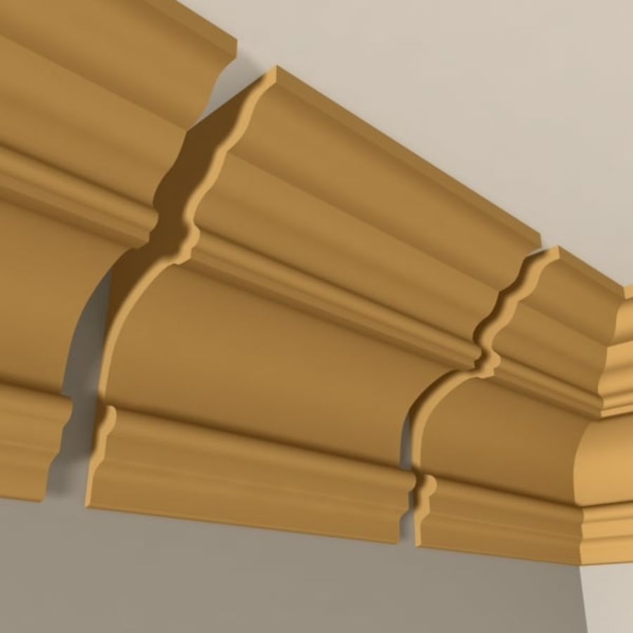 Cornice Molding 010 royalty-free 3d model - Preview no. 3