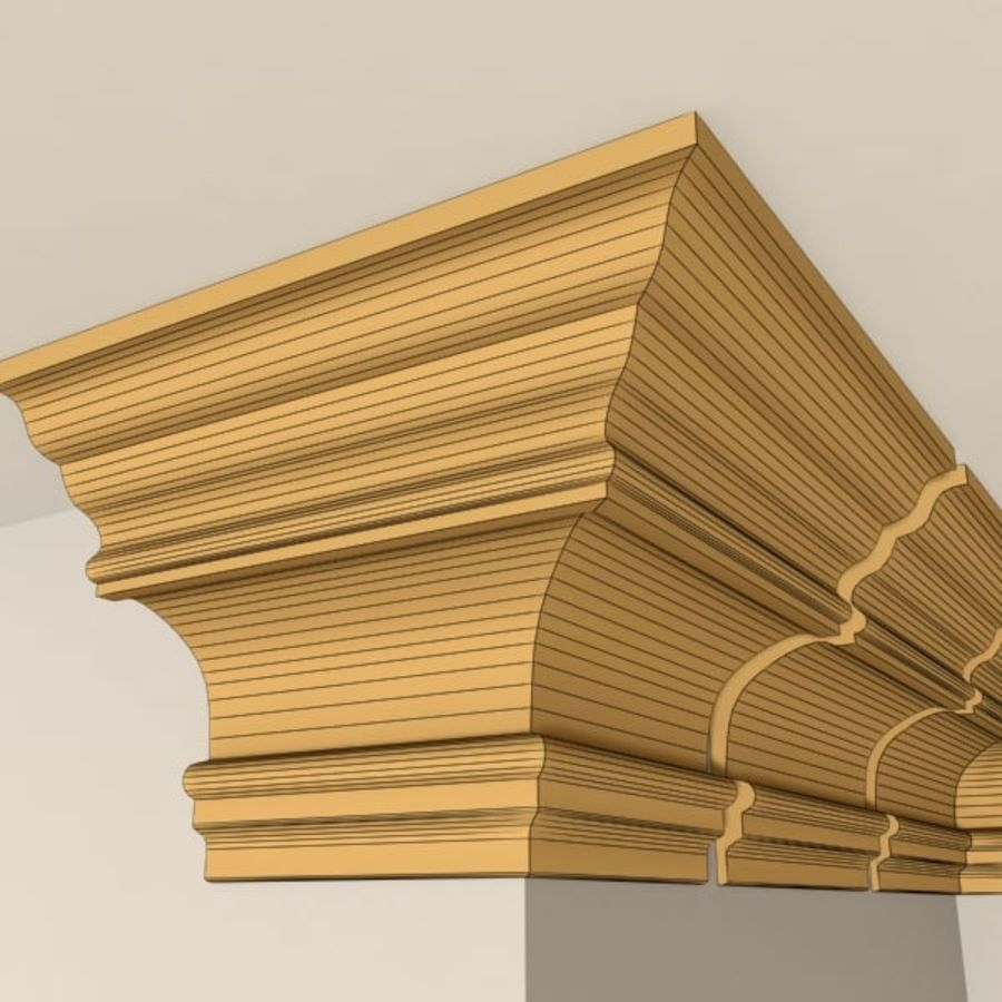 Cornice Molding 010 royalty-free 3d model - Preview no. 8