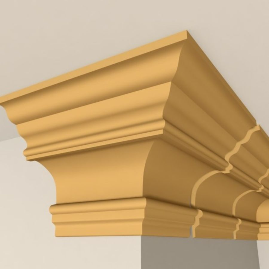 Cornice Molding 010 royalty-free 3d model - Preview no. 4