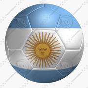 Soccer Ball Argentina Flag 3d model
