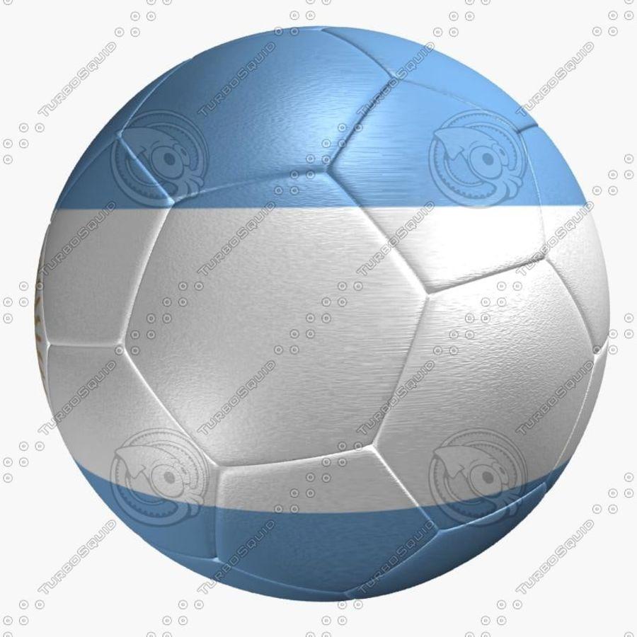 11eb629be7045 Bandeira de Argentina de bola de futebol royalty-free 3d model - Preview no.