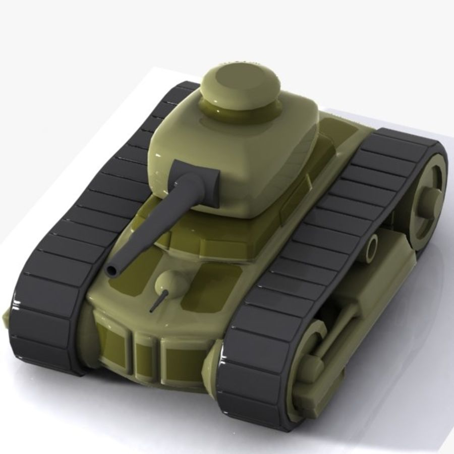 Cartoon-Panzer royalty-free 3d model - Preview no. 9