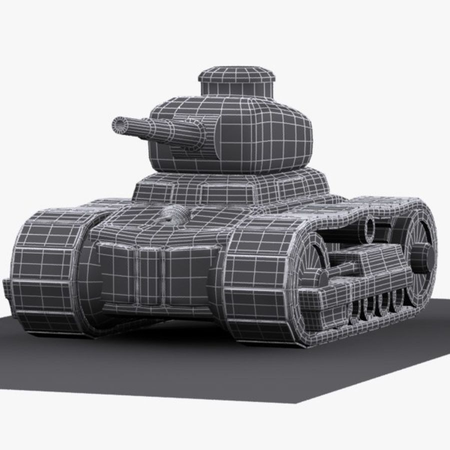 Cartoon-Panzer royalty-free 3d model - Preview no. 11