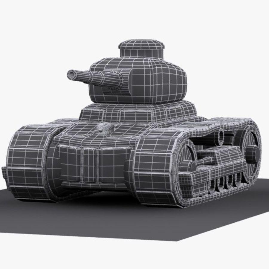 Tanque de dibujos animados royalty-free modelo 3d - Preview no. 11