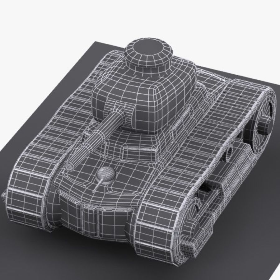 Cartoon-Panzer royalty-free 3d model - Preview no. 10