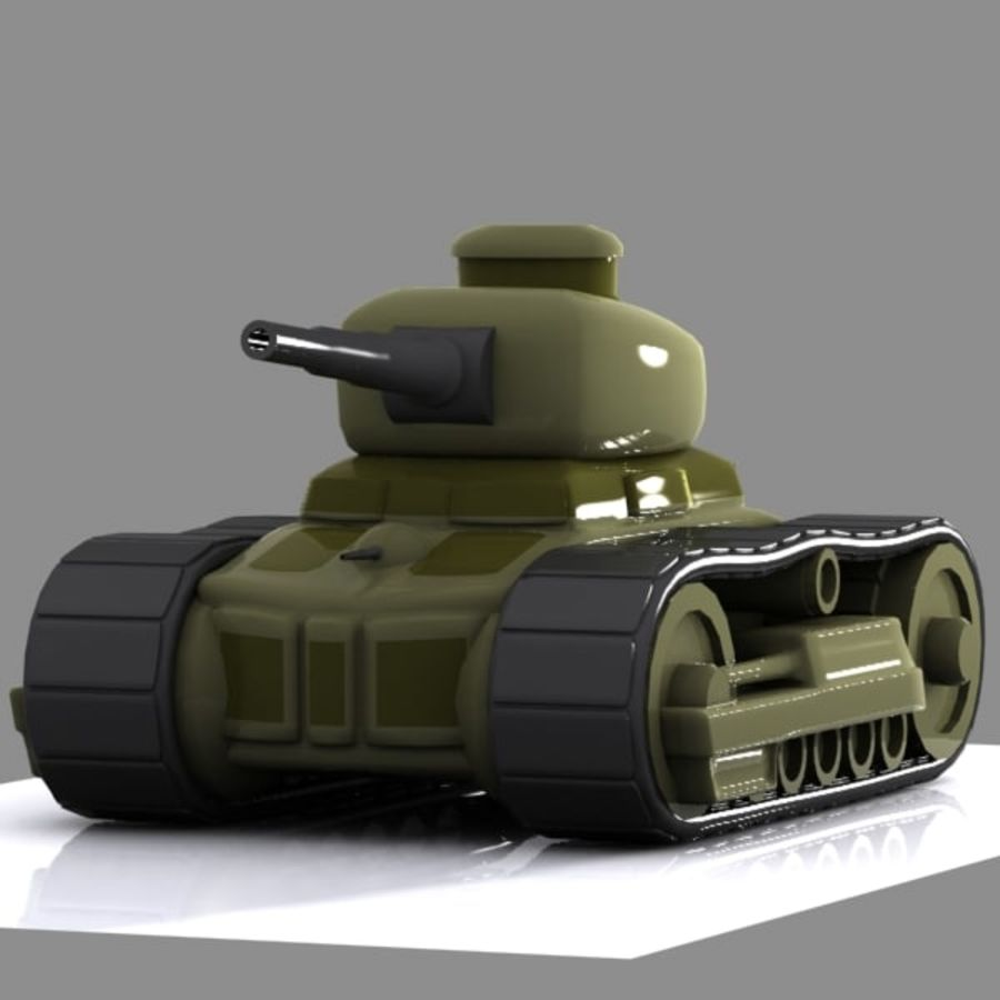Cartoon-Panzer royalty-free 3d model - Preview no. 4