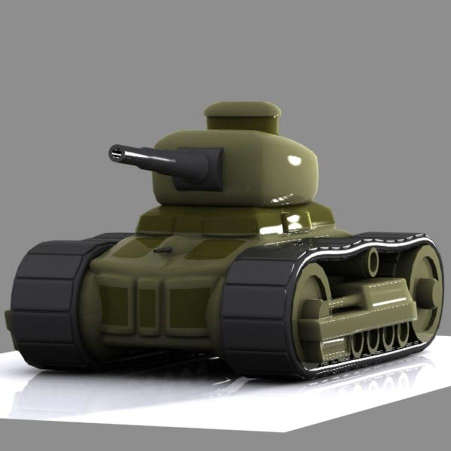 Tanque de dibujos animados royalty-free modelo 3d - Preview no. 4