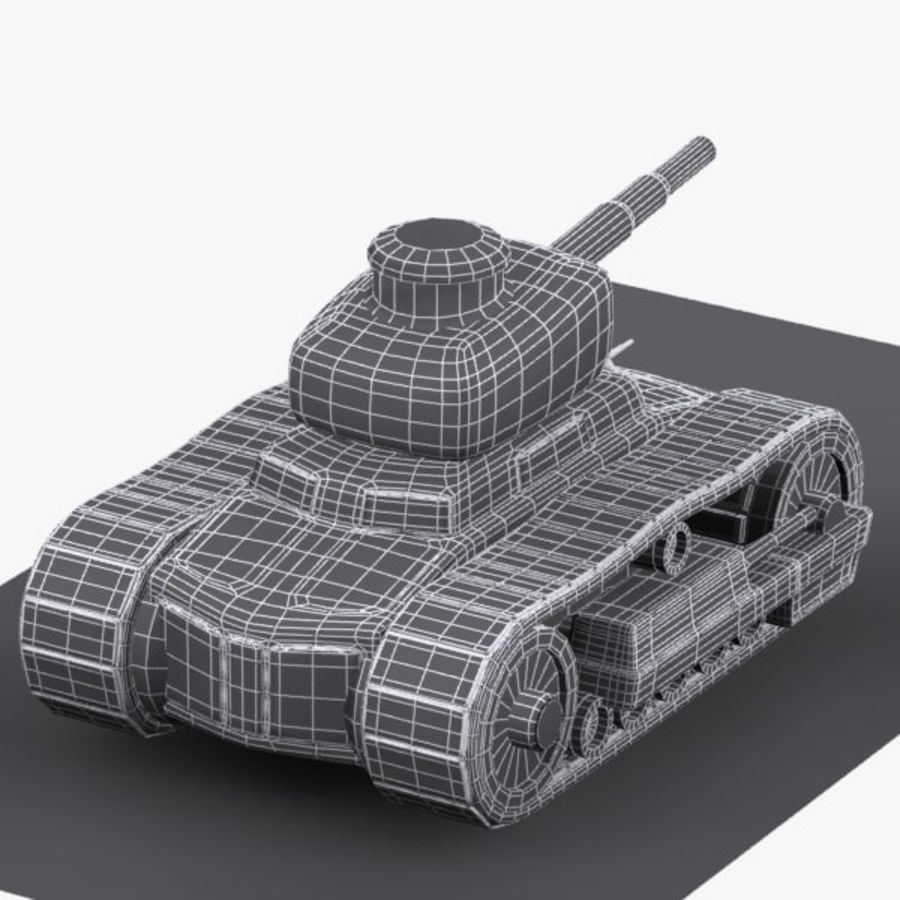 Cartoon-Panzer royalty-free 3d model - Preview no. 13