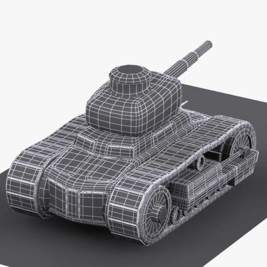 Tanque de dibujos animados royalty-free modelo 3d - Preview no. 13