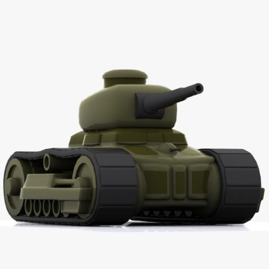 Cartoon-Panzer royalty-free 3d model - Preview no. 6