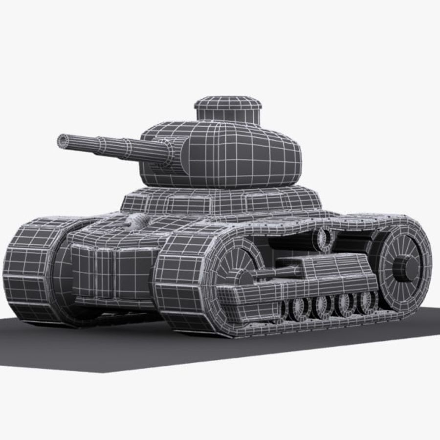 Cartoon-Panzer royalty-free 3d model - Preview no. 12