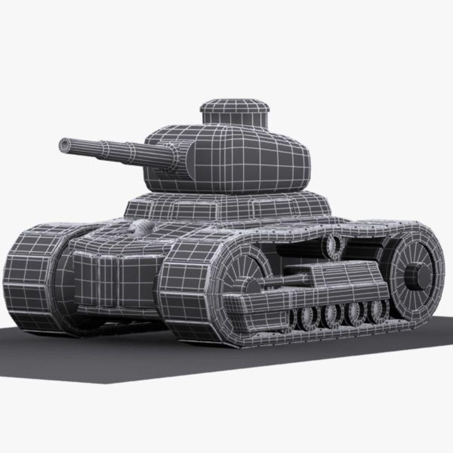Tanque de dibujos animados royalty-free modelo 3d - Preview no. 12