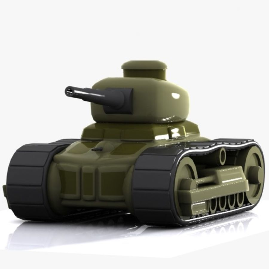 Cartoon-Panzer royalty-free 3d model - Preview no. 3