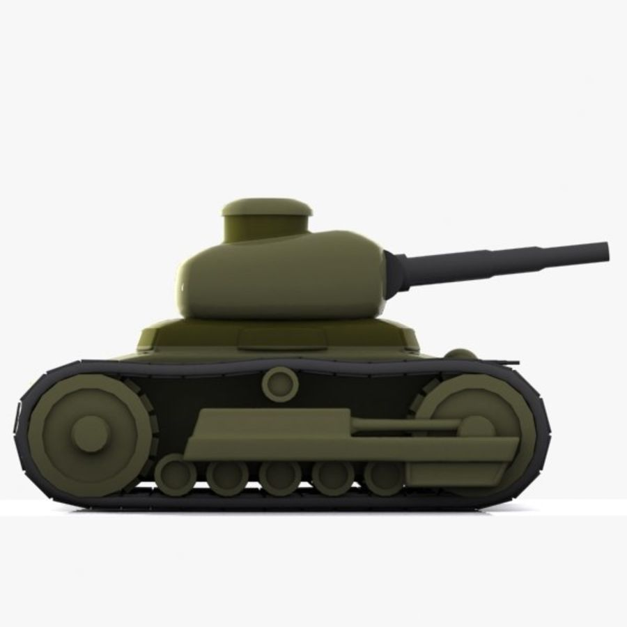 Cartoon-Panzer royalty-free 3d model - Preview no. 7