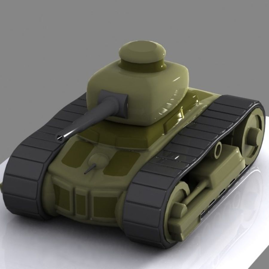 Cartoon-Panzer royalty-free 3d model - Preview no. 2