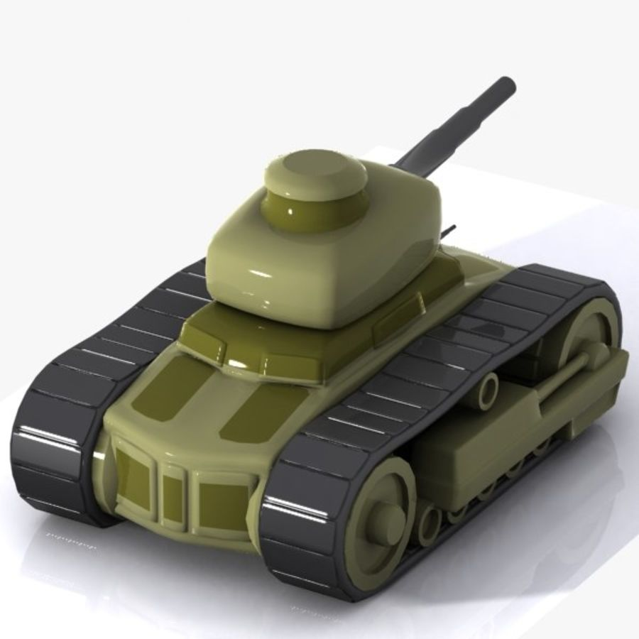 Cartoon-Panzer royalty-free 3d model - Preview no. 8