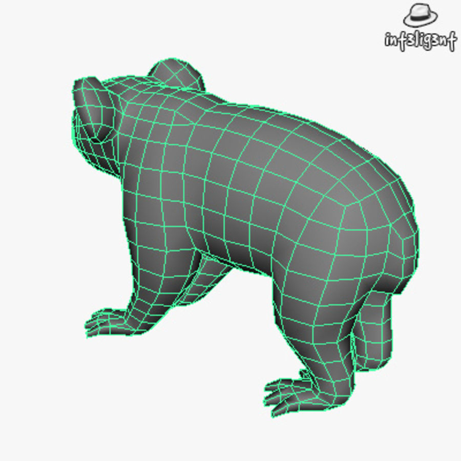 Låg Poly Koala royalty-free 3d model - Preview no. 6