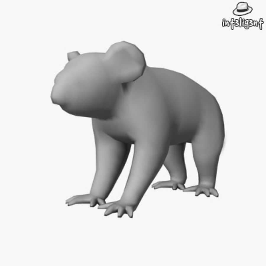 Låg Poly Koala royalty-free 3d model - Preview no. 1