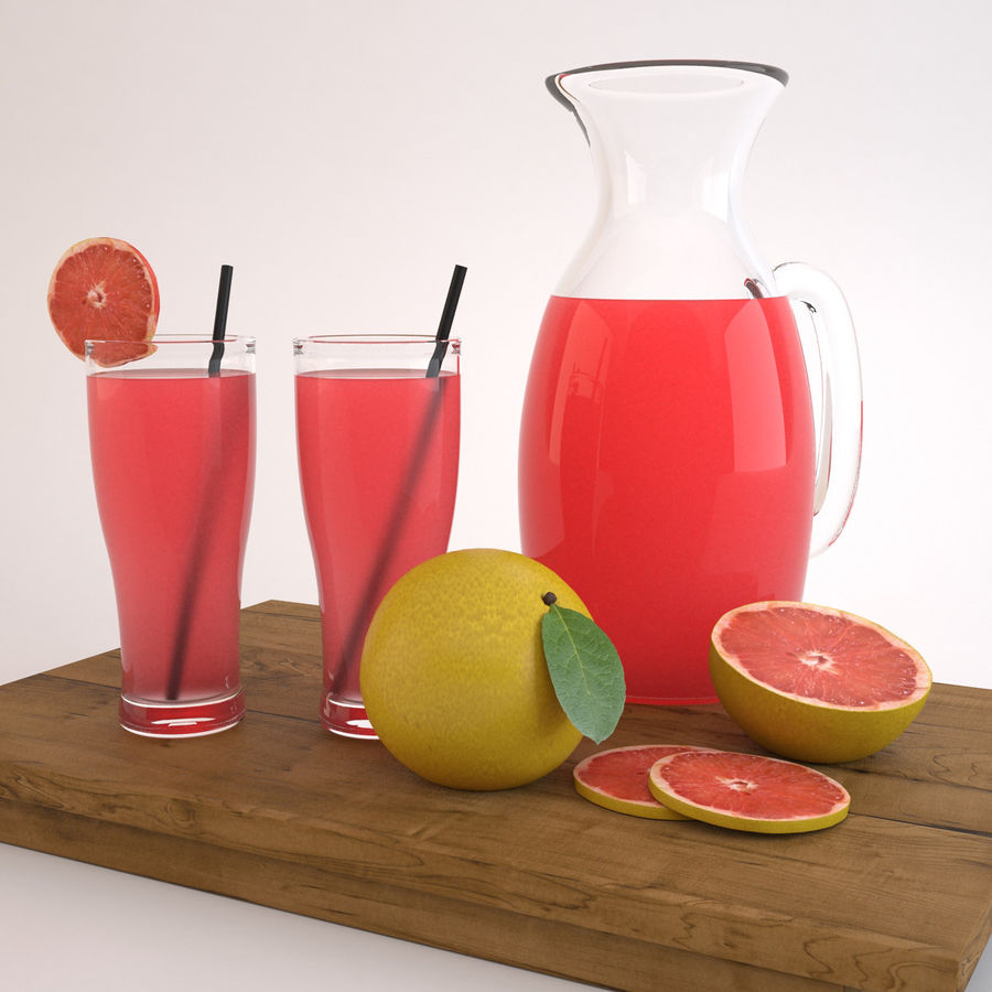 Grapefruit Juice royalty-free 3d model - Preview no. 6