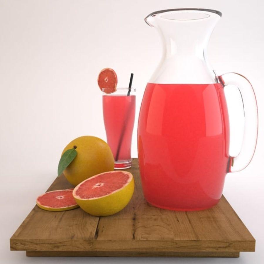 Grapefruit Juice royalty-free 3d model - Preview no. 5