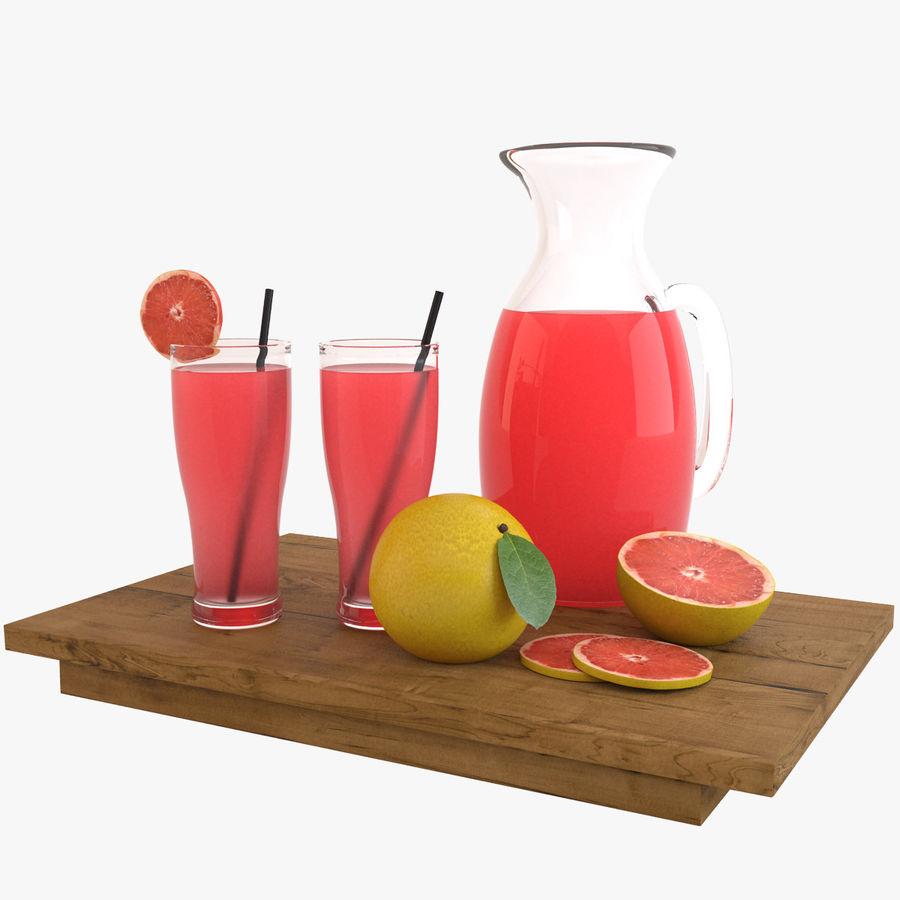 Grapefruit Juice royalty-free 3d model - Preview no. 1