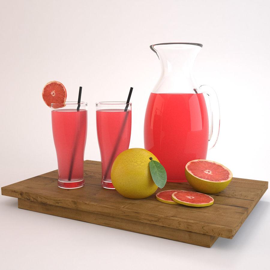 Grapefruit Juice royalty-free 3d model - Preview no. 2