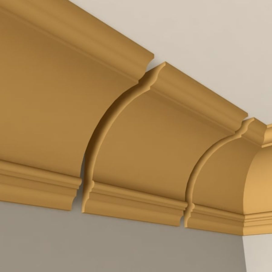 Cornice Molding 005 royalty-free 3d model - Preview no. 3
