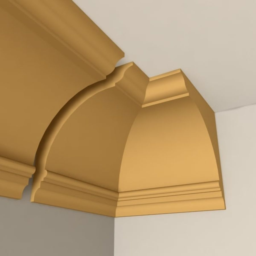 Cornice Molding 005 royalty-free 3d model - Preview no. 2