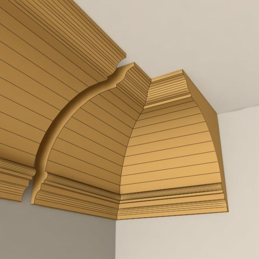 Cornice Molding 005 royalty-free 3d model - Preview no. 5