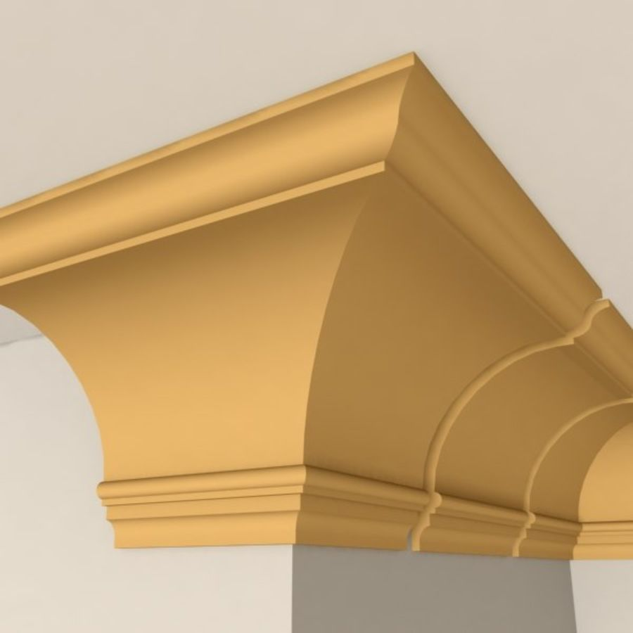 Cornice Molding 005 royalty-free 3d model - Preview no. 4