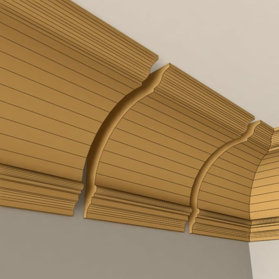 Cornice Molding 005 royalty-free 3d model - Preview no. 6