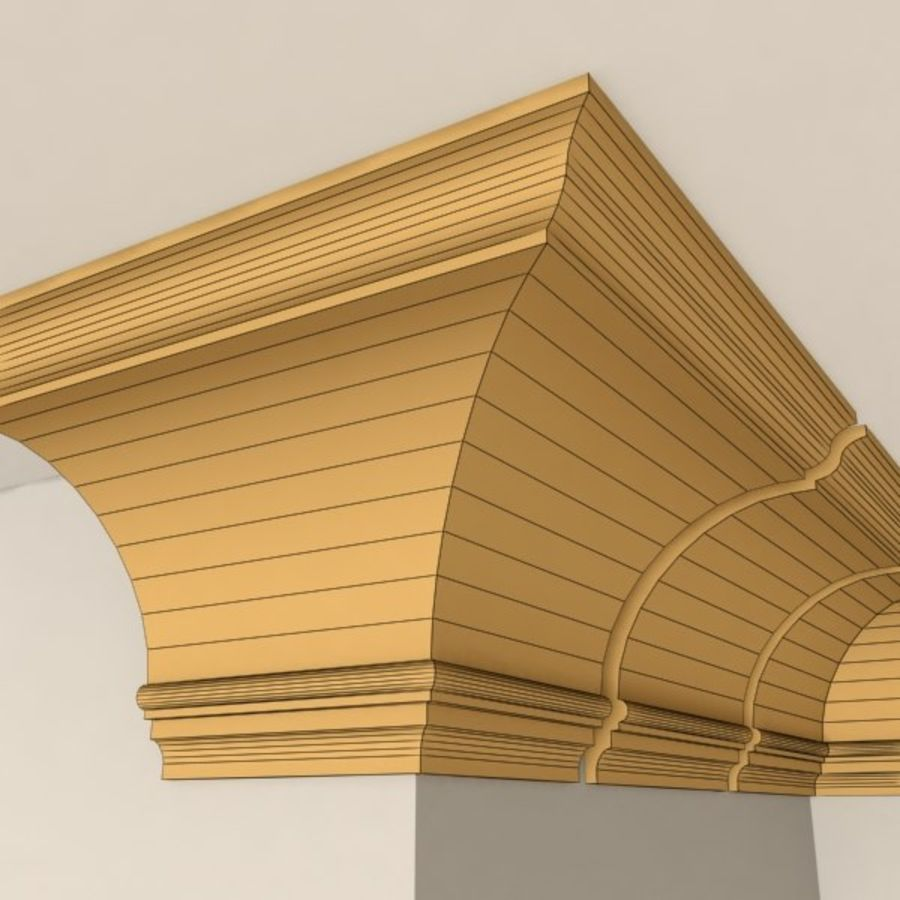 Cornice Molding 005 royalty-free 3d model - Preview no. 7