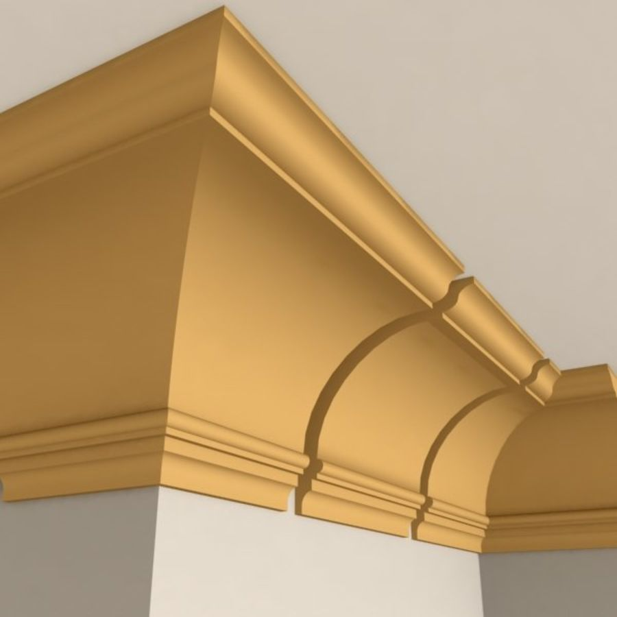 Cornice Molding 005 royalty-free 3d model - Preview no. 1
