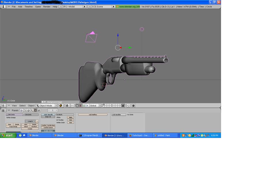 Hunting Shotgun royalty-free 3d model - Preview no. 4