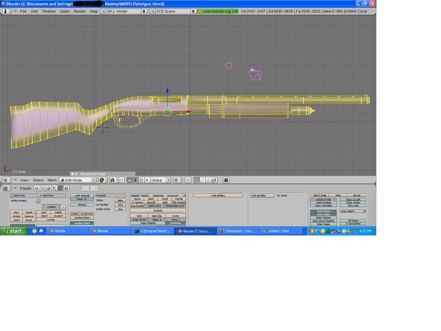 Hunting Shotgun royalty-free 3d model - Preview no. 5