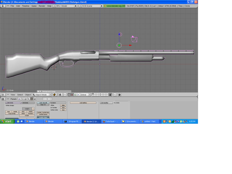 Hunting Shotgun royalty-free 3d model - Preview no. 3
