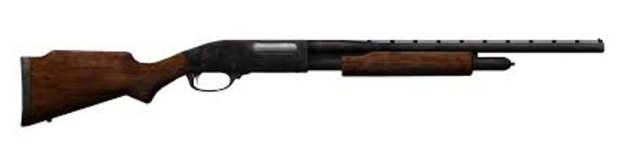 Hunting Shotgun royalty-free 3d model - Preview no. 1