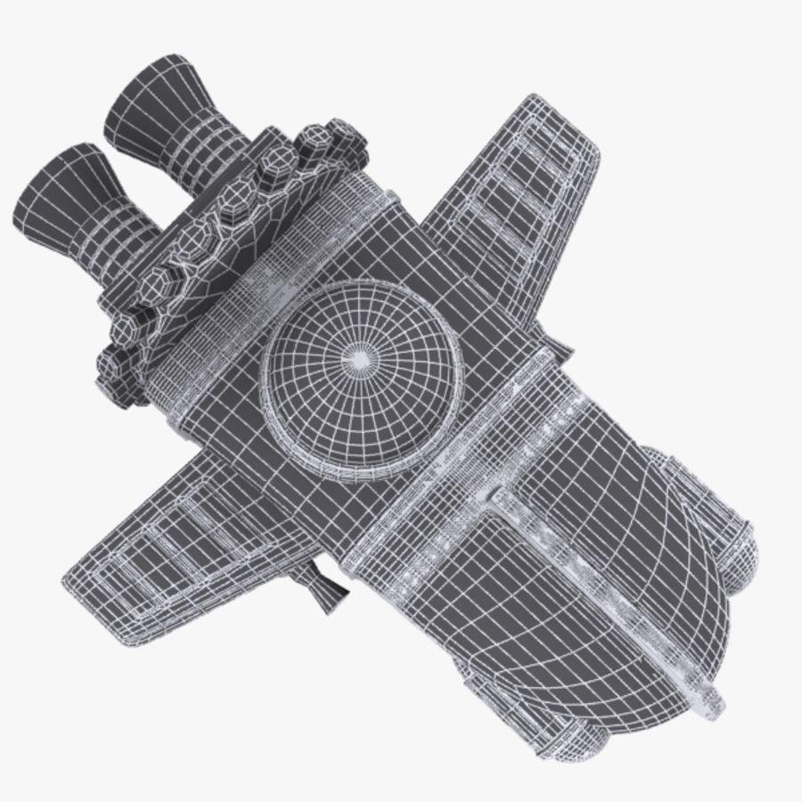 Cartoon Spacecraft royalty-free 3d model - Preview no. 9
