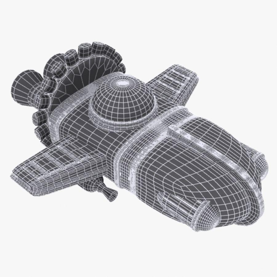 Cartoon Spacecraft royalty-free 3d model - Preview no. 8