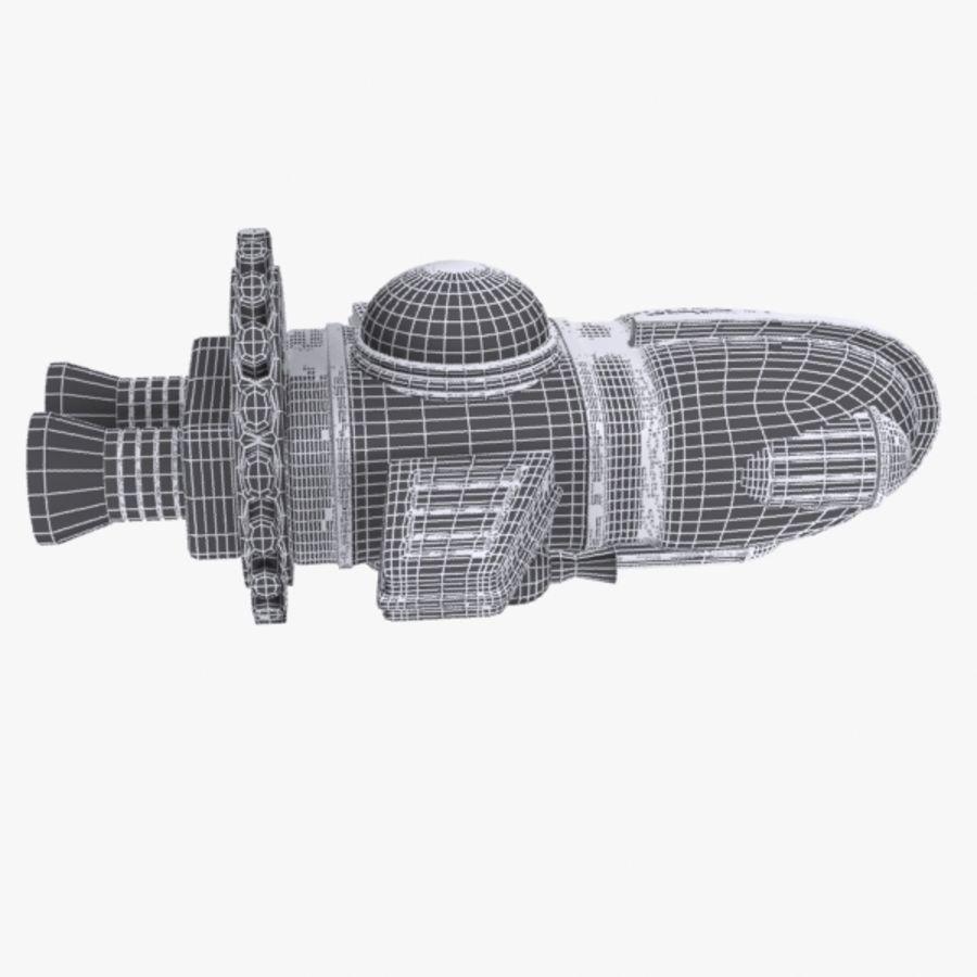 Cartoon Spacecraft royalty-free 3d model - Preview no. 11