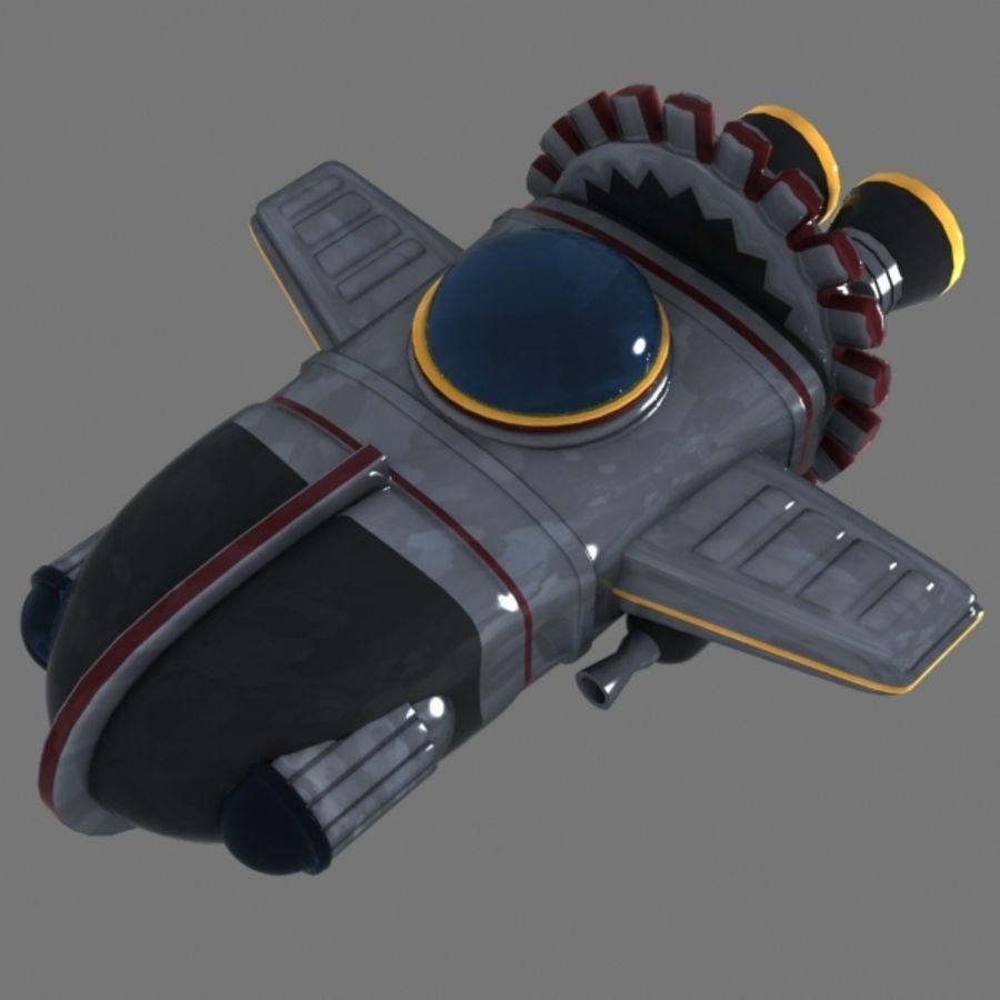Cartoon Spacecraft royalty-free 3d model - Preview no. 2